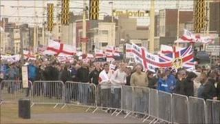 EDL protesters