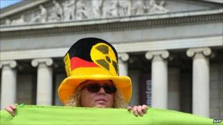 Anti-nuclear protester in Munich, 28 May