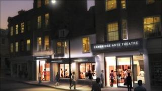 Artist's impression of expanded Arts Theatre in Cambridge