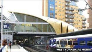 Planned new entrance at Leeds station