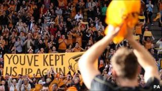 Wolverhampton football supporters