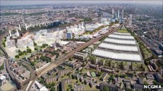 Plans for the redevelopment of Nine Elms