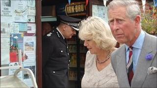 Prince Charles and Camilla in Blythburgh