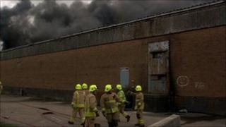 Fire at former Mettoys site in Swansea