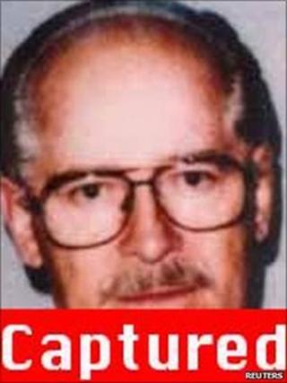 1996 photo of James Whitey Bulger on the FBI website on 23 June 2011