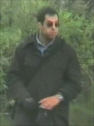Danilo Restivo shown on police surveillance video watching lone women at a beauty spot near Bournemouth after the murder of Heather Barnett