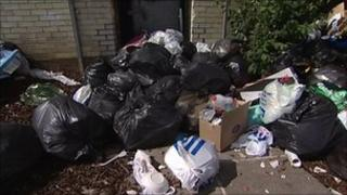 Rubbish in Southampton