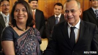 Nirupama Rao and Salman Bashir - june 24 2011