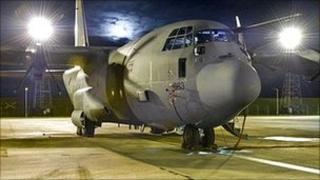 Hercules aircraft at RAF Lyneham