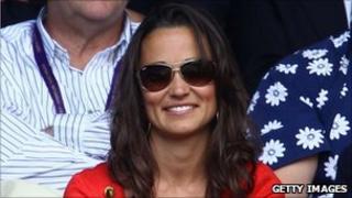 Pippa Middleton watching Roger Federer at Wimbledon
