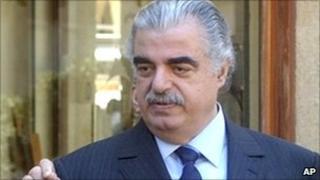 Former Lebanese Prime Minister Rafik Hariri, in Beirut, Lebanon, Feb 14, 2005