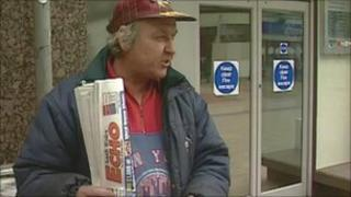 South Wales Echo seller, pictured in 1998
