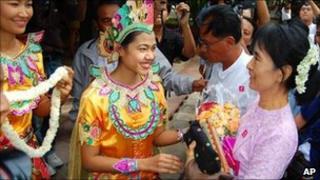 Aung San Suu Kyi, Bagan Hotel in Bagan, Myanmar 4 July 2011