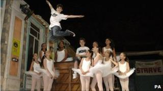 Some of the cast of Billy Elliot the Musical