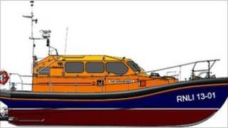 Images of the RNLI Shannon class lifeboat. Copyright: RNLI