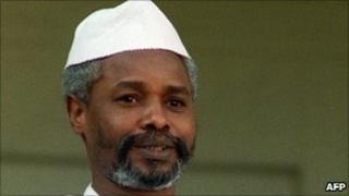 Chad's then President Hissene Habre, in 1989 in Paris