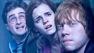 Daniel Radcliffe, Emma Watson and Rupert Grint as Harry, Hermione and Ron in Harry Potter and the Deathly Hallows Part 2
