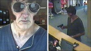 CCTV photos of the betting shop robber