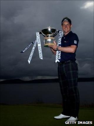 Barclays Scottish Open winner Luke Donald