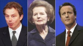 Composite of Blair, Thatcher and Cameron