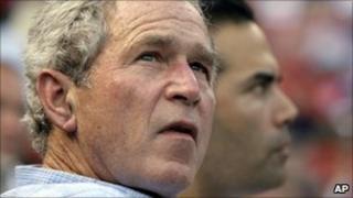Former President George W Bush in Arlington, Texas