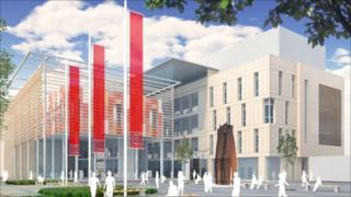 An artist's impression of the Hadyn Ellis Building