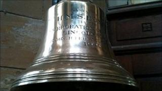The ship's bell from the minesweeper HMS Boston