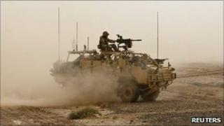 Isaf tank in Laskar Gar, Helmand, Afghanistan (file image)