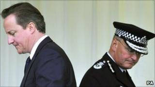 David Cameron and Sir Paul Stephenson