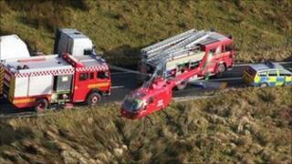 A crash scene