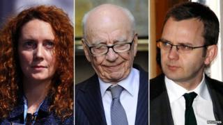 Rebekah Brooks, Rupert Murdoch and Andy Coulson