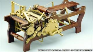 Patent Model of Machine for Making Paper Bags, by Margaret Knight