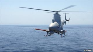 US Navy drone. Pic: US Navy