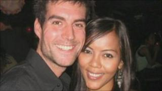 Richard Plummer with his girlfriend, Indri