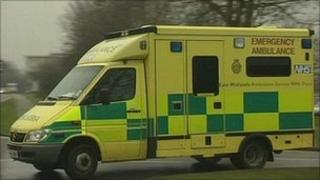 East Midlands Ambulance Service ambulance