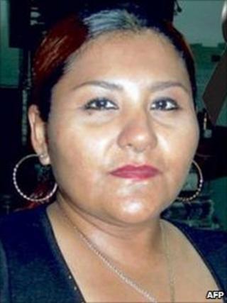 Archive photo of Yolanda Ordaz released by Notiver