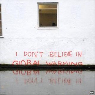 Banksy art on global warming