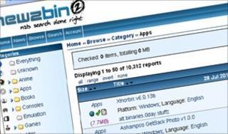 Newzbin screenshot