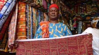 A street vendor in Senegal