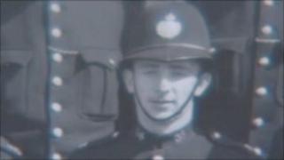Arthur Rowlands in his police uniform