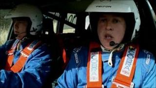 Cpl Neathway on the Top Gear programme