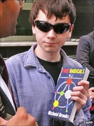 Jake Davis with copy of Free Radicals