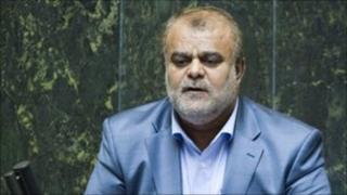 Rostam Qasemi speaks during his confirmation as the new oil minister in Tehran