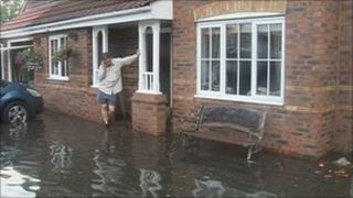 Resident in flooded Goole street