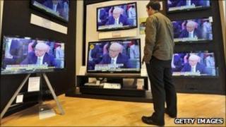 TV sets in shop