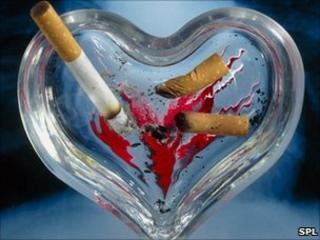 Heart shaped ash tray