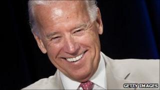 US VP Joe Biden smiles