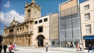 An artist's impression of how the Cheltenham Art Gallery and Museum will look after the work