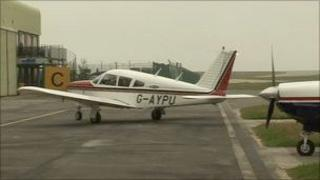 Private plane at Jersey Airport