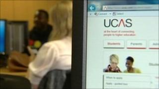 UCAS website and students
